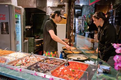 Takeaway food service fast food camden